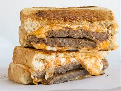 Grilled Cheese Sandwiches with Sausage Recipe